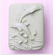 Let'S Diy Jumping Dolphins 3D Silicone Candle Moulds Handmade Soap Mould