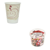 KITOFX00013SLO378SMJ8000PK - Value Kit - Solo Hot Cups (SLO378SMJ8000PK) and Office Snax Soft amp;amp; Chewy Mix