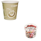 KITECOEPBRHC10EWPKOFX00013 - Value Kit - ECO-PRODUCTS,INC. Evolution World 24% PCF Hot Drink Cups (ECOEPBRHC10EWPK) and Office Snax Soft amp;amp; Chewy Mix