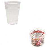 KITBWKTRANSCUP10PKOFX00013 - Value Kit - Boardwalk Translucent Plastic Hot/Cold Cups (BWKTRANSCUP10PK) and Office Snax Soft amp;amp; Chewy Mix