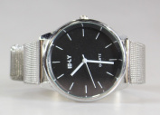 Lucoo Luxury Fashion comfortable Men's Metal Mesh Band Round Dial Quartz Analogue Wrist Watches Popular