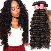 Beauty Forever 6A Virgin Brazilian Hair Deep Curly Wave 3 Bundles 100% Unprocessed Human Hair Extensions
