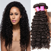 ALI JULIA Wholesale 7A Malaysian Virgin Deep Curly Wave Hair Weave 3 Bundles 100% Unprocessed Remy Human Hair Extensions 95-100g/pc Natural Black Colour