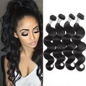 7A Grade Cheap Brazilian Virgin Hair Body Wave Human Hair Extensions 4pcs/lot 100g100ml/Bundles Natural Black Hair Weaves