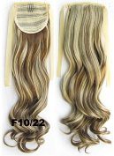 60cm 80g Clip In Pony Tail Hair Extension Wrap Around Ponytail Hair Extension Piece Light Brown colour 10/22