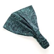 Peppercorn Kids Girls' Exotic Paisley Headband - Turquoise/Blue - One Size