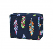 Multi-Colour Feather Print NGIL Large Cosmetic Travel Pouch