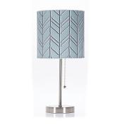 Glenna Jean Happy Camper Mod Lamp and Shade, Blue Chevron