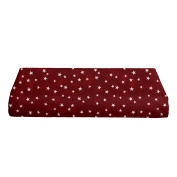 BKB Changing Pad Cover, Lucky Stars Burgundy