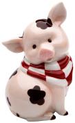 StealStreet SS-CG-61760 14cm Sitting Pink Pig with Brown Mud Spots Money Piggy Bank