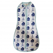Woombie Nautical for Boy, White/Navy/Blue, 2.3-5.9kg