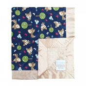 My Blankee Oh Deer Midnight Minky Dotted Blankets, Tan, 36cm x 43cm