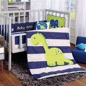 DINOSAURS CRIB BEDDING SET SHEET 6 PCS COMFORTER,BUMPER GUARD,HEAD BOARD LIMITED EDITION