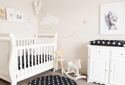 Bambella Designs Fitted Crib Sheet - Black Crosses