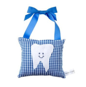 Boy's Tooth Fairy Pillow in Royal Blue Checkers