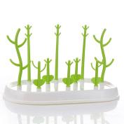 Akak Store New Design Green Multi-functional Tree-Shape Anti-Bacterial Baby Bottle Drying Rack Cups Dryer