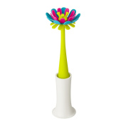 Soft Silicone Blue/Pink Petals Milk Bottle Cleaning Brush