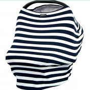 Bhbuy Baby Car Seat Cover Canopy and Nursing Cover Scarf Multi-Use for Breastfeeding