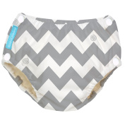 Charlie Banana Reusable Easy Snaps Swim Nappy Medium - Grey Chevron