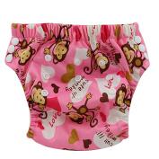 Ohbabyka Baby Training Pants,Baby Nappy Nappies Waterproof, Red Monkey