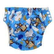 Ohbabyka Baby Training Pants,Baby Nappy Nappies Waterproof, cute monkey