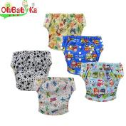 Ohbabyka Baby Training Pants,Baby Nappy Nappies Waterproof,1-3Years Old 5PCS Pack