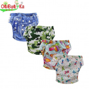 Ohbabyka Baby Training Pants,Baby Nappy Nappies Waterproof, 4PCS Pack