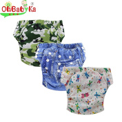Ohbabyka Baby Training Pants,baby nappies waterproof Pants 3PCS