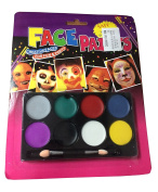 Face Painting Kit 8 Flash Colours Professional Face Body Paint Oil Cosmetic Case Makeup Painting Palette Set Great for Halloween, Theme Parties, Cosplay, Fancy Dress Ball, Stage Performance