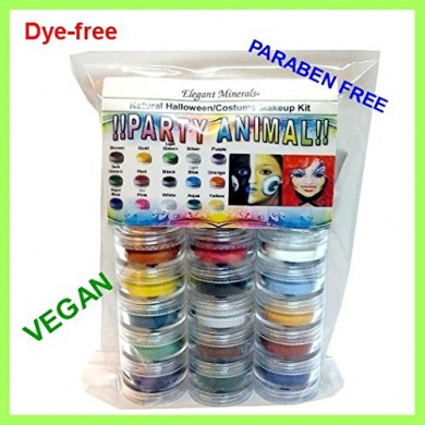 15 Colours Natural Face Paint Makeup Kit PARABEN-free,DYE-free VEGAN Halloween Set
