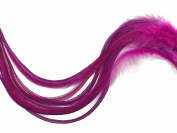 6 Pieces - XL SOLID AQUA MINT Thick Rooster Hair Extension Feathers