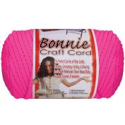 Bonnie Macrame Neon Craft Cord 4Mmx100yd-Flamingo