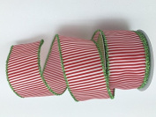 Celebrate IT- Ribbon Bow-tique-Christmas strip- Wired Plaid linen ribbon 6.4cm x 7.6m