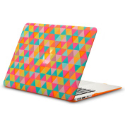 Kuzy - AIR 33cm Triangles ORANGE Rubberized Hard Case for MacBook Air 34cm (A1466 & A1369) (NEWEST VERSION) Shell Cover - Triangle ORANGE