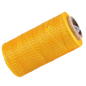 WEONE 200 Metre 1mm 150D Yellow DIY Leather Sewing Flat Waxed Dacron Thread Cord