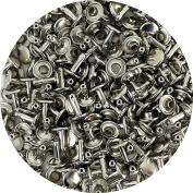 Springfield Leather Company's Nickel Plate Medium Double Cap Rivets 50pk