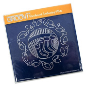 Groovi Parchment Embossing Plate A5 Sq Christmas Stockings, Laser Etched Acrylic for Parchment Craft