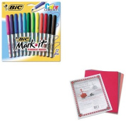 KITBICGPMAP12ASSTPAC103637 - Value Kit - BIC Mark-it Permanent Markers (BICGPMAP12ASST) and Pacon Riverside Construction Paper