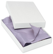 2-Piece Apparel Gift Boxes With Lids and Silver Stretch Loops with Pre-tied Bows, 11 1⁄2 x 8 1⁄2 x 1 5⁄20cm