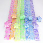 DadaCrafts(TM) 7 Colours Glow in the dark Origami Star Paper 210 Sheets, Stars style