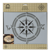 FolkArt Painting Stencil, 30cm by 30cm , 31598 Compass