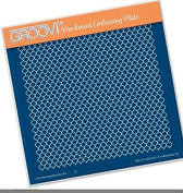 Groovi Parchment Embossing Plate - Lace Netting A5 - Laser Etched Acrylic for Parchment Craft