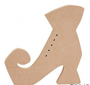 FE-OTC Halloween Craft Supply - Witch's Boot Shoe Wood DIY 1 pc. #13658693