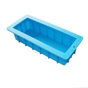 X-Haibei Loaf Soap Mould Silicone for Swirling Making Supplies 1400ml 10x 3.13cm x 6.4cm