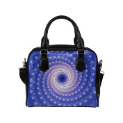Artsadd Women Bag Blue and Pink Spiral Art Shoulder Handbag Tote Bag