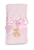 Bearington Pink Huggie Bear Burp Cloth
