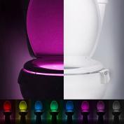 Tiean Body Sensing Automatic LED Motion Sensor Night Lamp Toilet Bowl Bathroom Light