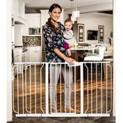 Regalo 150cm Extra WideSpan Walk Through Baby Gate, Pressure Mount with 3 Included Extension Kits