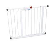 White Regalo Easy Step Walk Thru Gate, Baby Toddler Pet Child Safety Doorway
