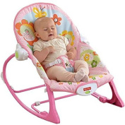 Fisher-Price Infant-to-Toddler Rocker Sleeper, Y4544, Pink Bunny Pattern